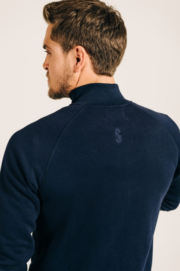 Navy Blue Zip Sweat