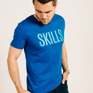 Skills Royal Blue Tee