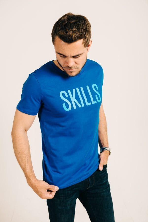 Skills Royal Blue Tee